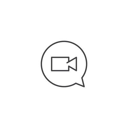 Video chat icon vector Illustration