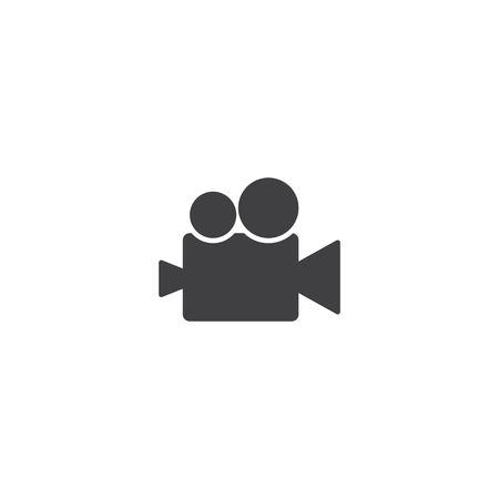 Video camera icon vector