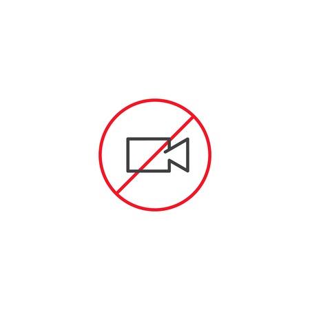 No video camera icon vector