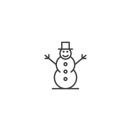 Snowman icon vector Illustration