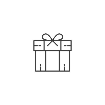 Christmas gift box icon vector Ilustrace