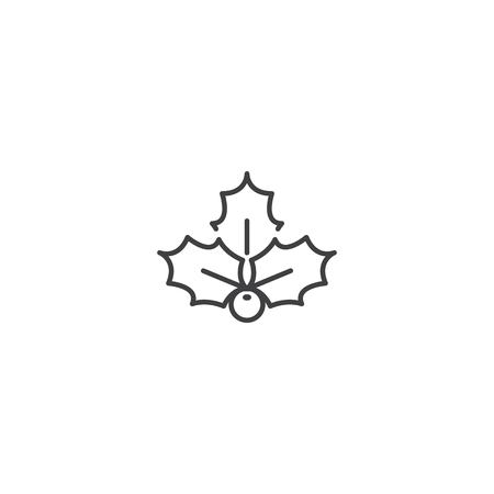 Christmas holly berry icon vector
