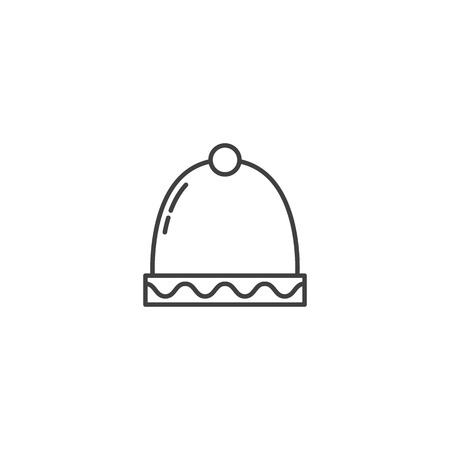 Christmas winter hat icon vector