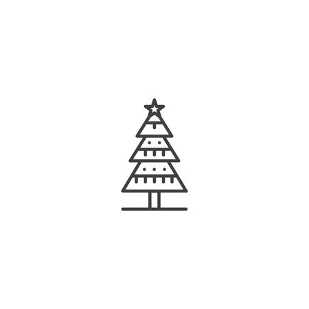 Christmas tree icon vector Ilustrace