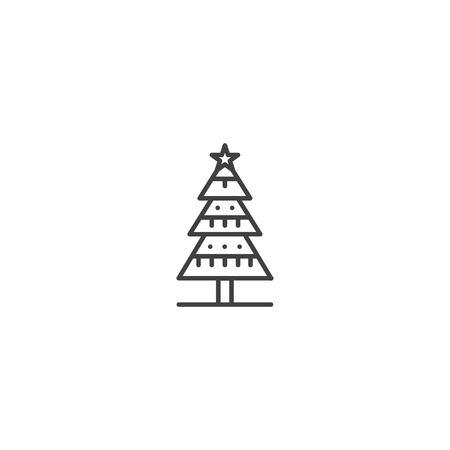 Christmas tree icon vector Illustration