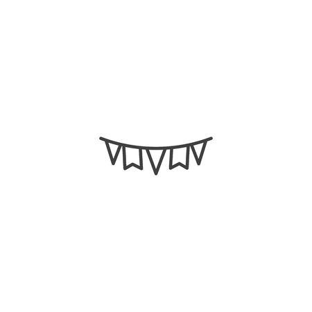 Christmas garland icon vector