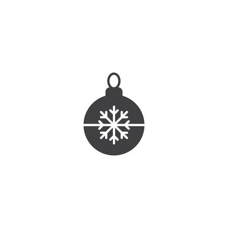 Christmas ball icon vector Çizim