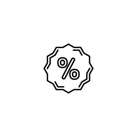 Discount sticker, percent icon vector Banque d'images - 125340620