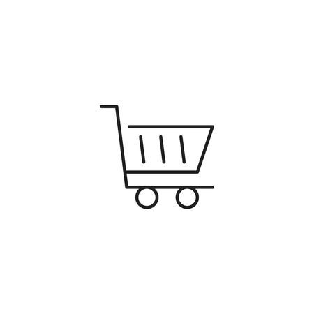 Shopping cart icon vector Foto de archivo - 125340623