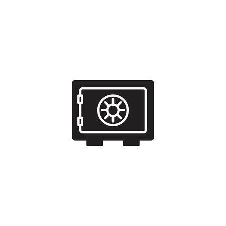 Safe bank icon vector