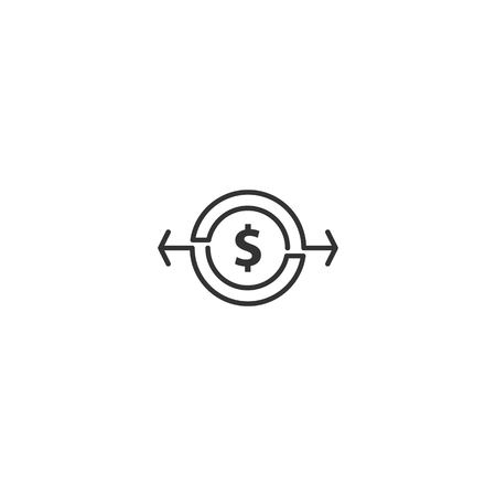 Transfer dollar icon vector