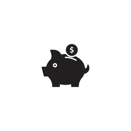 Piggy bank icon vector  イラスト・ベクター素材