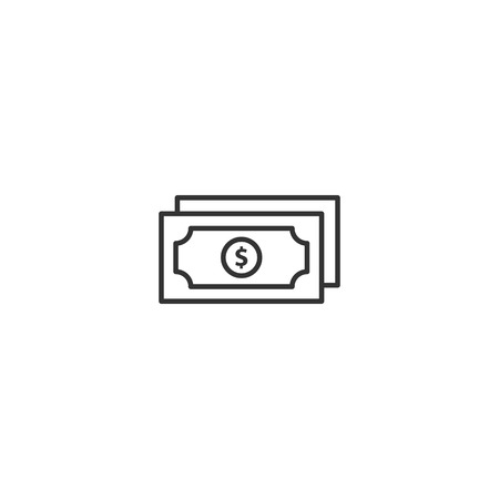 Money dollar icon vector