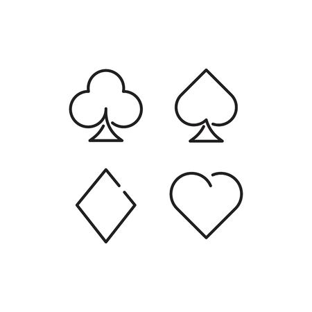 Card suit line icon vector
