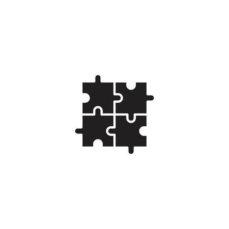 Puzzle line icon vector