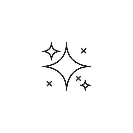 Shine line icon vector