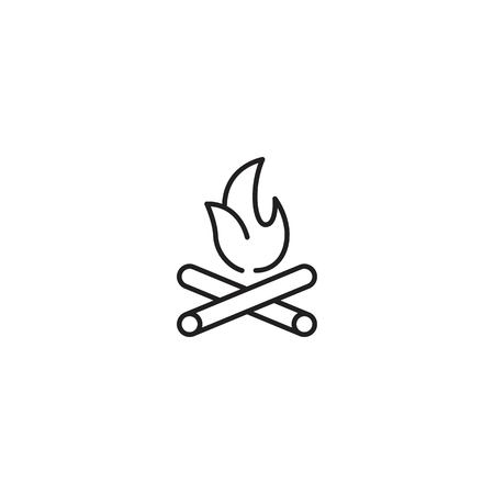 Bonfire line icon vector Illustration