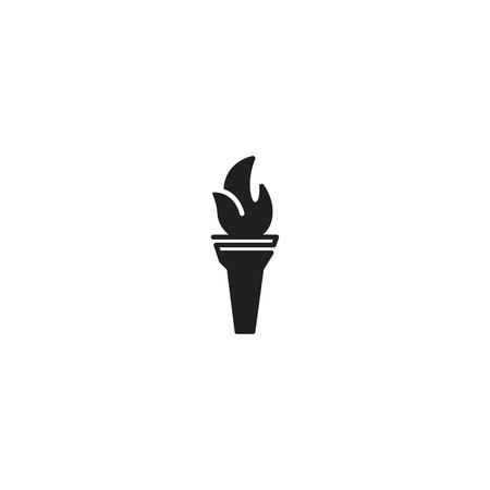 Torch line icon vector