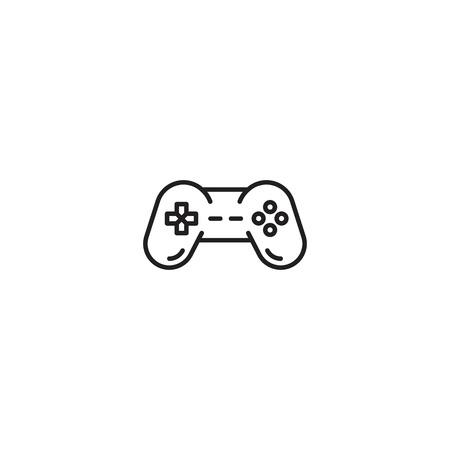 Game pad line icon vector Illustration