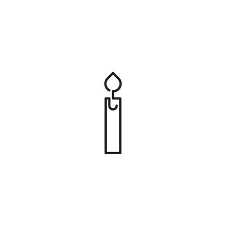 Candle line icon vector Illustration