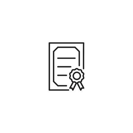 Certificate line icon vector 일러스트