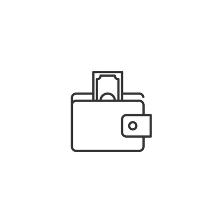 Wallet, purse line icon vector Ilustração