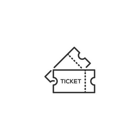 Ticket line icon vector