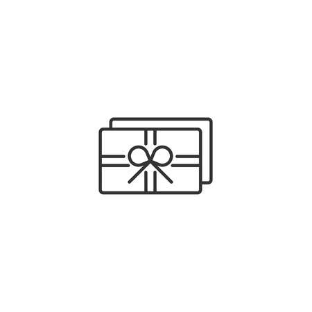 Gift card card outline icon vector
