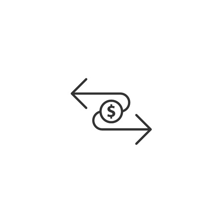 Transfer Dollar icon Illustration