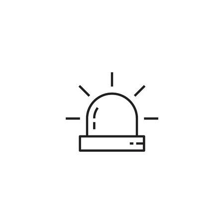 Siren line icon  イラスト・ベクター素材