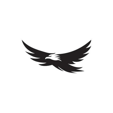 Eagle bird negative space. Vector logo icon template