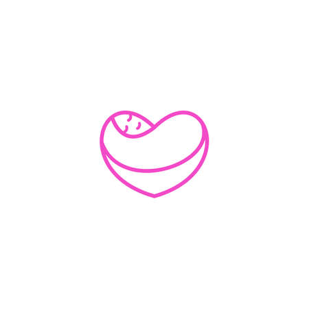 Baby love, baby care. Vector logo icon template