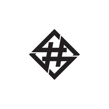 Hashtag. Vector logo icon template