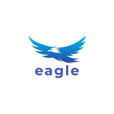 Eagle negative space. Vector logo icon template