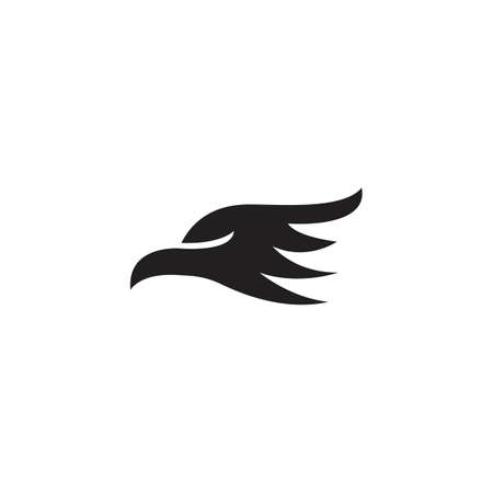 Eagle head silhouette. Vector logo icon template Ilustracja