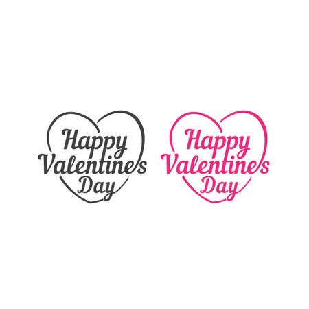 Happy valentines day. Vector logo icon template