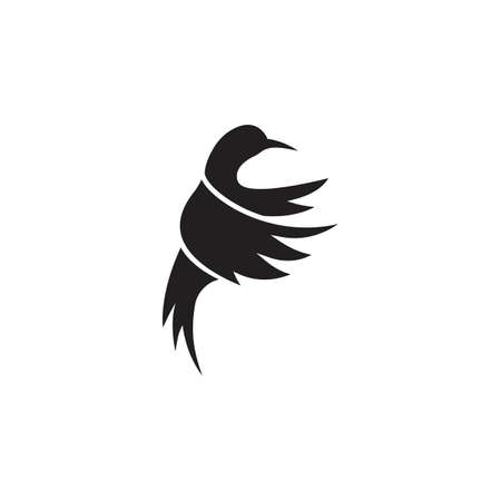 Humming bird. Vector logo icon template