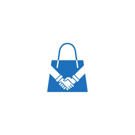 Shopping deal. Vector logo icon template