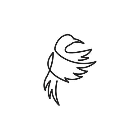 Humming bird one line. Vector logo icon template Ilustracja
