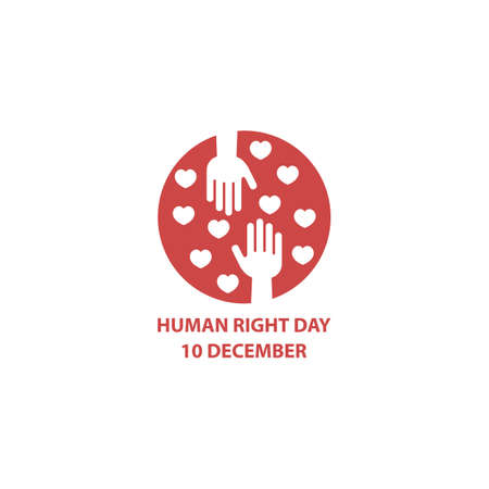 Human right day, 10 december. Vector logo icon template