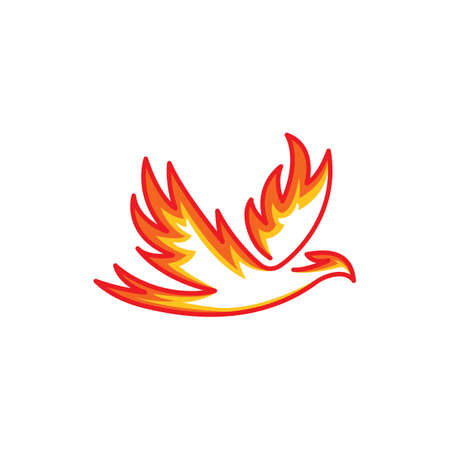 Phoenix bird. Vector logo icon template