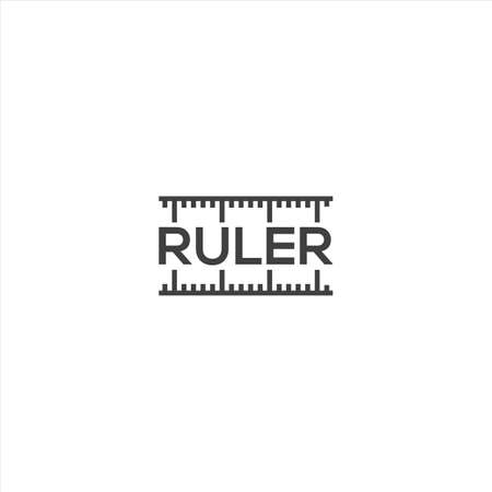 Ruler. Vector logo icon template Ilustracja
