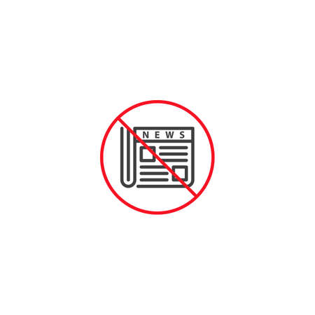 Stop hoax, fake news. Vector icon template