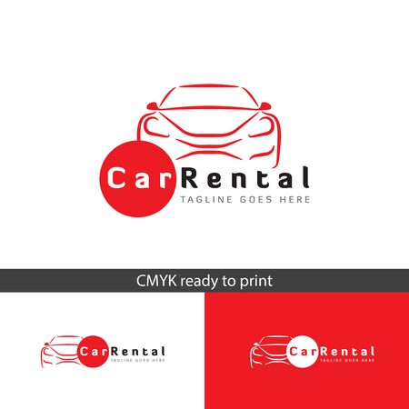 Car rental logo, simple and modern logo, suitable for your business.