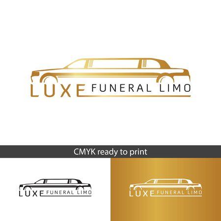 Logo LUXE Funeral Limo, Limousine service for rent. Funeral Limo for rent, elegant and modern logo