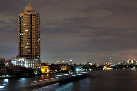 bangkok, capital city of thailand at night photo