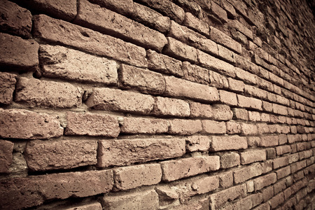 wrack: Brick wall texture in ruins temple at ayutthaya province,Thailand
