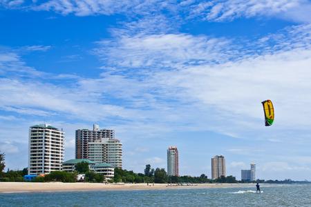 The hotel seaside at hua-hin beach thailand