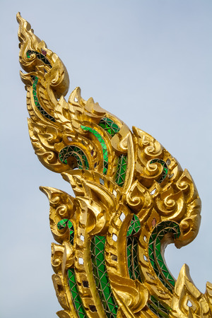 The golden sculpture,The thai art sculpture photo