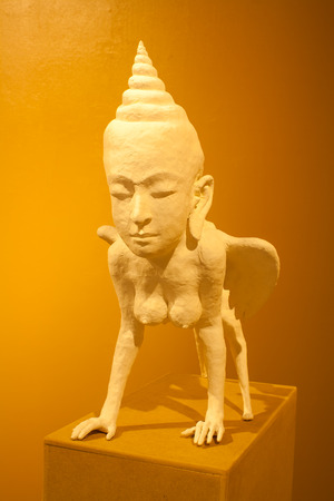 The abstract sculpture,The thai art sculpture photo